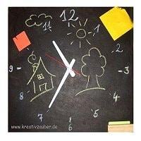 Uhren selber bauen: mit Tafelfarbe
