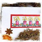 Weihnachtskerzen – Kartenbasteln