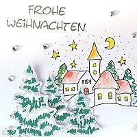 winterliche Weihnachtskarte