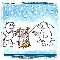 Eisbären Winterkarte