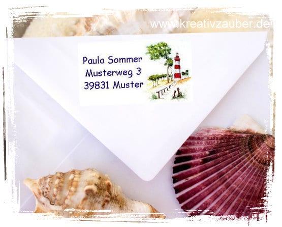 Adressaufkleber Sommer