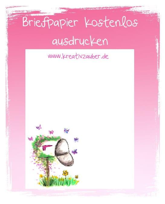 Briefpapier mailbox kreativ zauber - Briefpapier vorlagen kostenlos ...