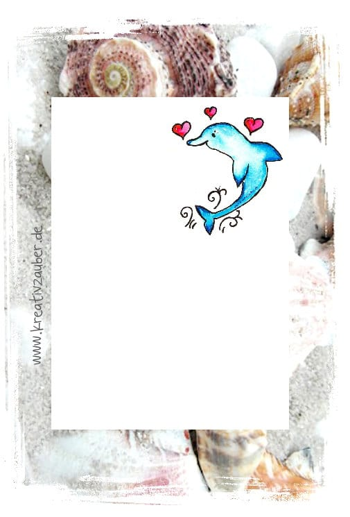 Briefpapier Delphin gratis