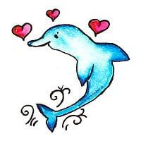 Delphin Briefpapier kostenlos ausdrucken