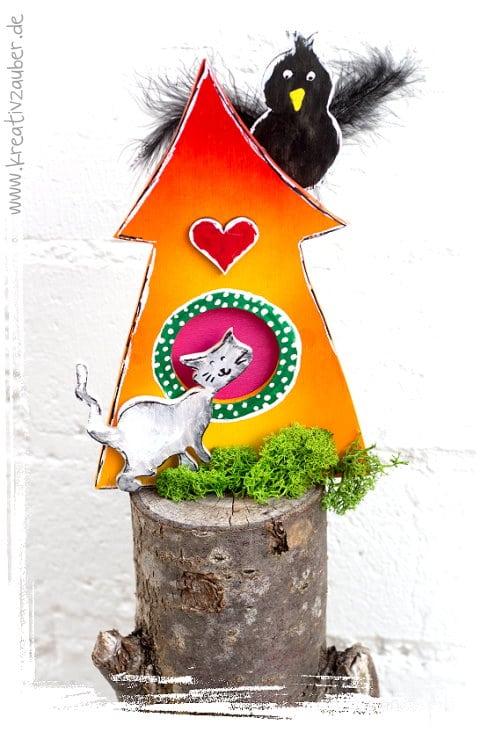 Gartendeko selber machen vorlage anleitung kreativzauber - Gartendeko holz selber machen ...
