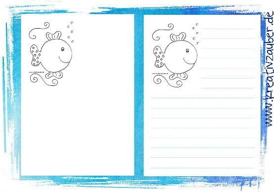 Briefpapier Für Kinder Kostenlos Zum Ausdrucken Kreativzauber