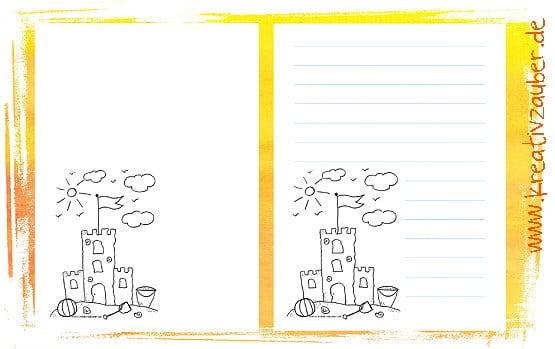 Briefpapier für Kinder kostenlos