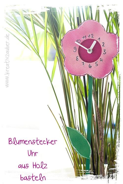 Blumenstecker basteln