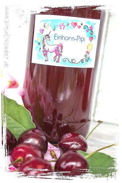 Einhorn Pipi Etiketten