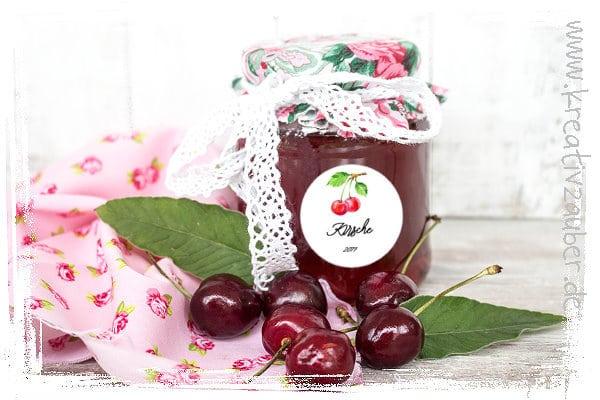 Aufkleber Marmelade
