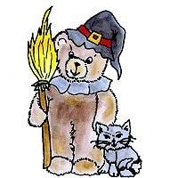 Halloween Bär – kostenloses Briefpapier