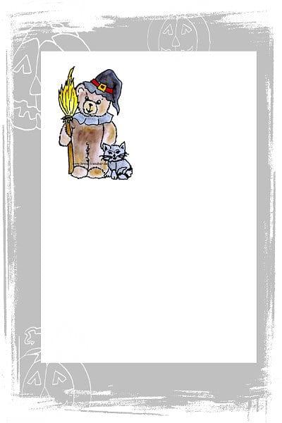 Halloween Bär - kostenloses Briefpapier ⋆ Kreativzauber ...