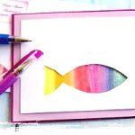 Kunterbunter christlicher Fisch