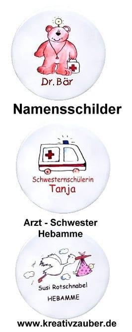 namensschild krankenschwester