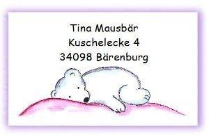 adressaufkleber visitenkarte