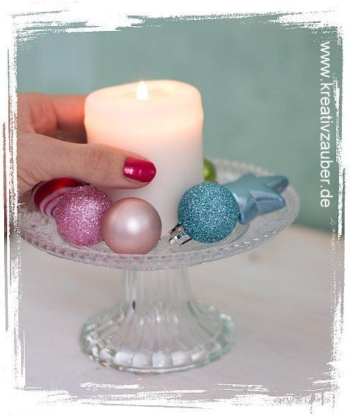 Weihnachtszeit dekorieren Kerzen