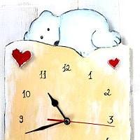 Kuschelbär Uhr