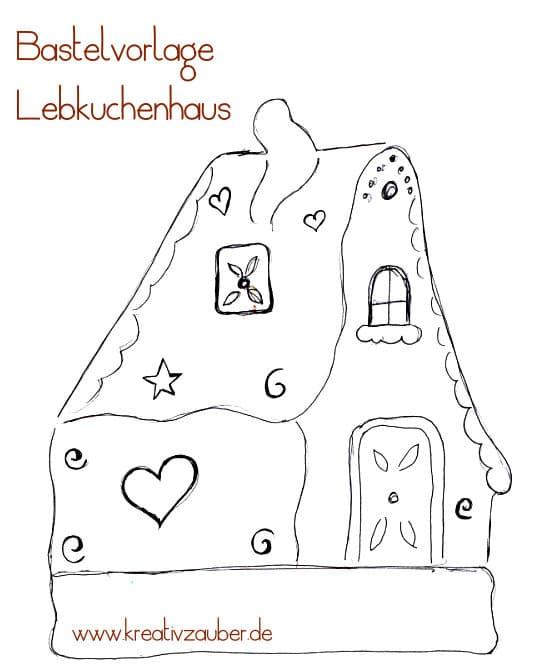 Bastelvorlage Lebkuchenhaus