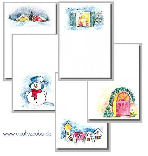 Briefpapiere Winter Weihnachten Neuheiten