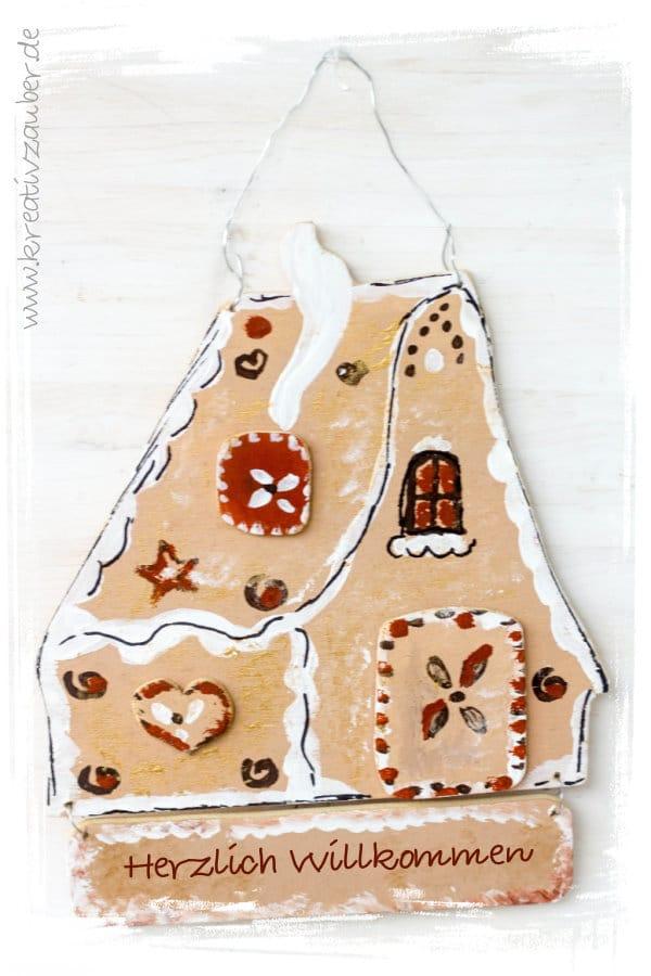 Weihnachtsdeko basteln aus Holz