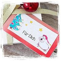 Geschenkanhänger zu Weihnachten