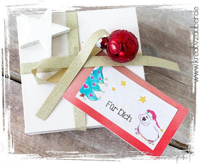 Geschenkanhänger Zu Weihnachten Kreativzauber Bastelblog Mit