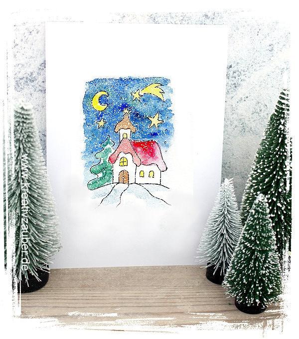 Kartengrüße zu Weihnachten kostendlos ausdrucken