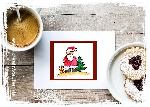 Nikolaus Weihnachtsmann Karte