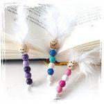 Bücherwurm aus Perlen basteln