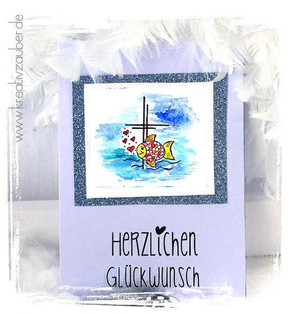 Karte zur Taufe basteln