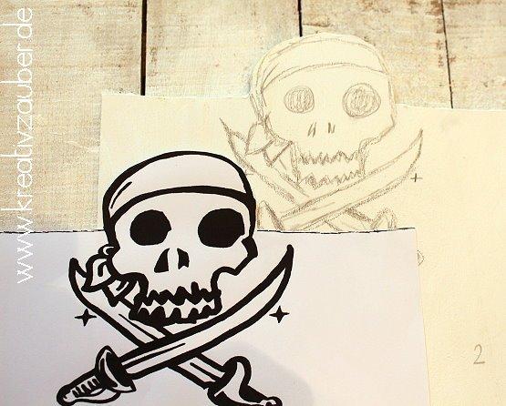 pirat Holz basteln