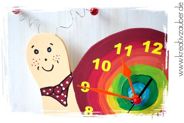 Kinderzimmer Uhr basteln