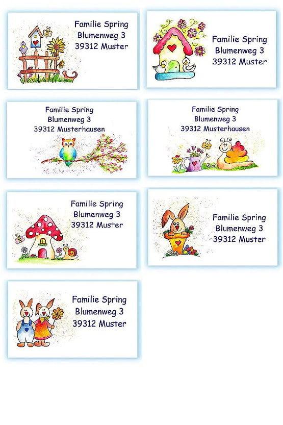 Adressaufkleber Ostern Frühling Neuheiten