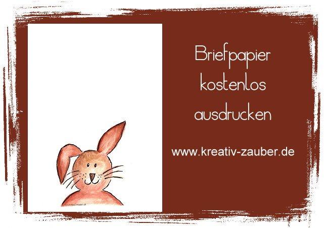 Briefpapier Ostern kostenlos ausdrucken
