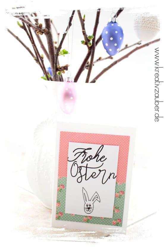 Osterkarte kostenlos ausdrucken