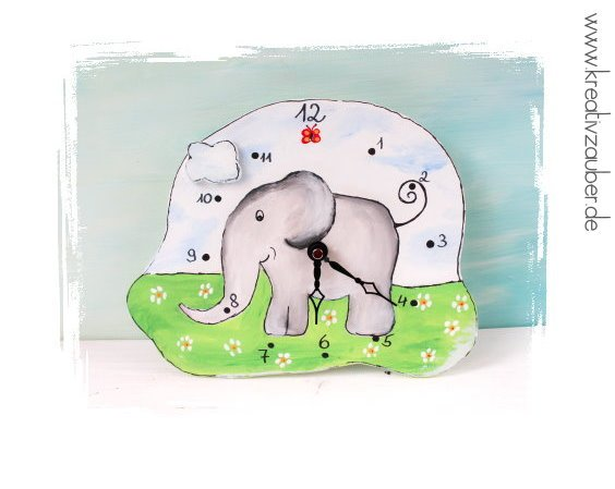 Elefant Malvorlage Bastelvorlage Uhr