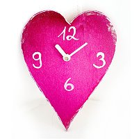 Herz Uhr zu Muttertag basteln