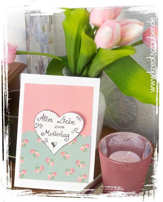 Muttertagskarte basteln - Freebie