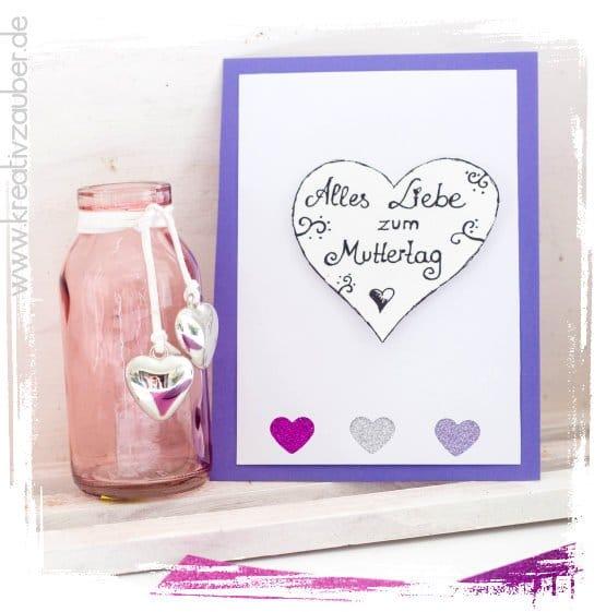 Muttertagskarte basteln