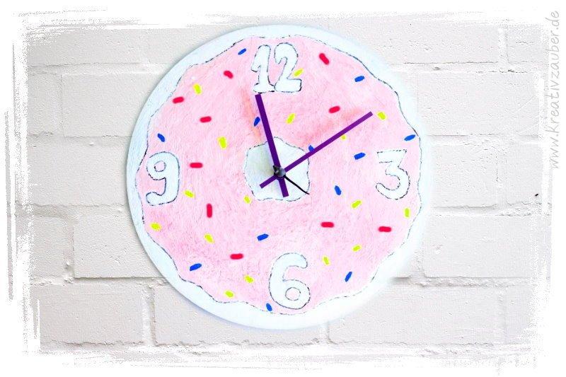 Donut Uhr Basteln Kreativzauber Bastelblog Mit Vielen