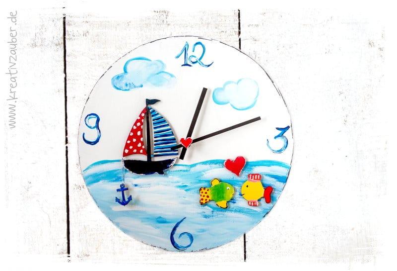 Uhrenbasteln im Sommer