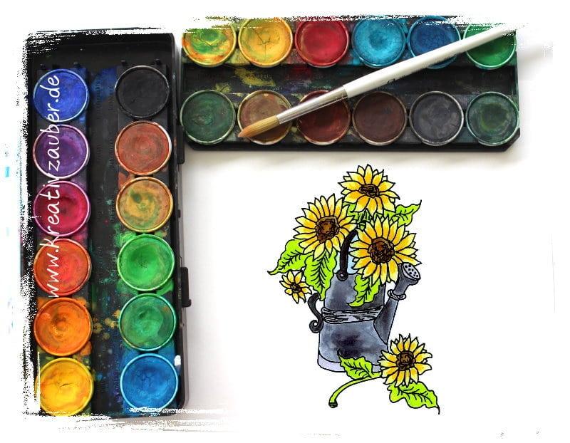 Malvorlagen Sonnenblumen
