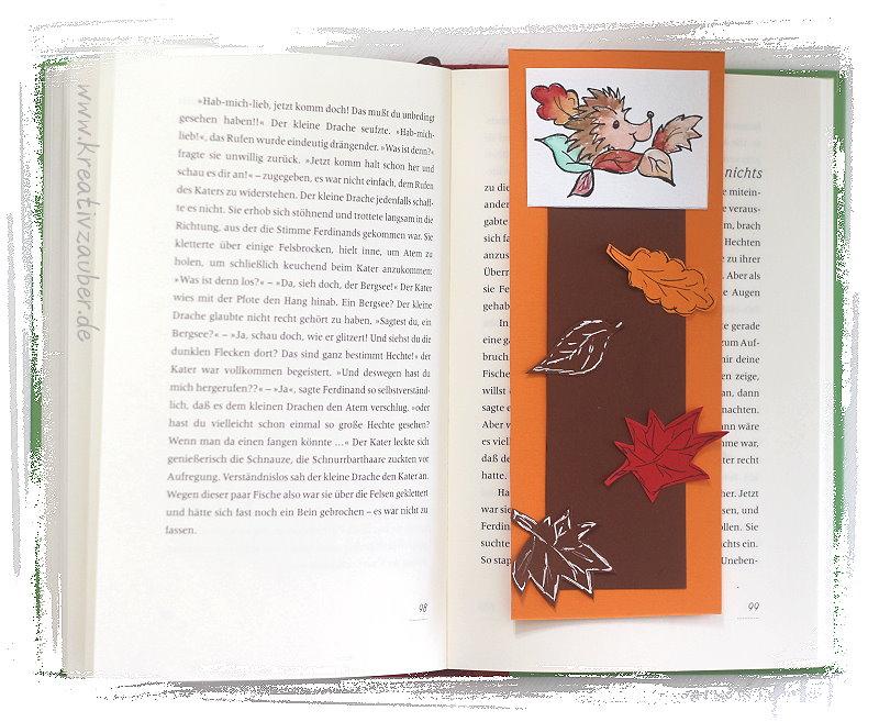 Lesezeichen Herbst Kreativzauber Bastelblog Mit Vielen