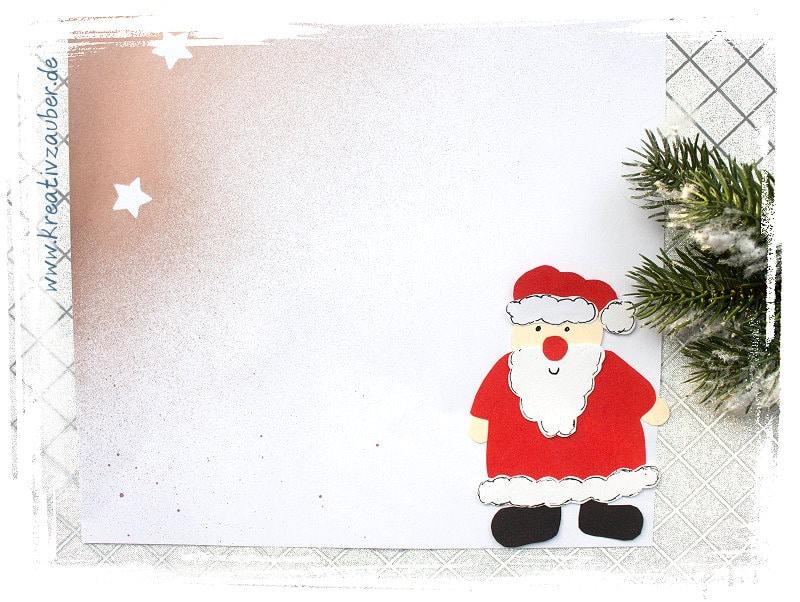 briefpapier weihnachten selber machen