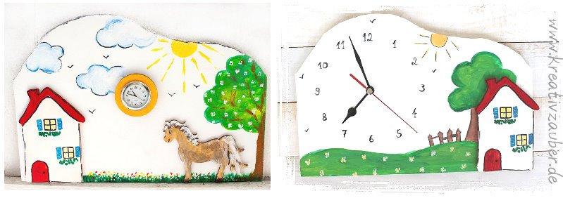 Bastelvorlagen Uhren basteln