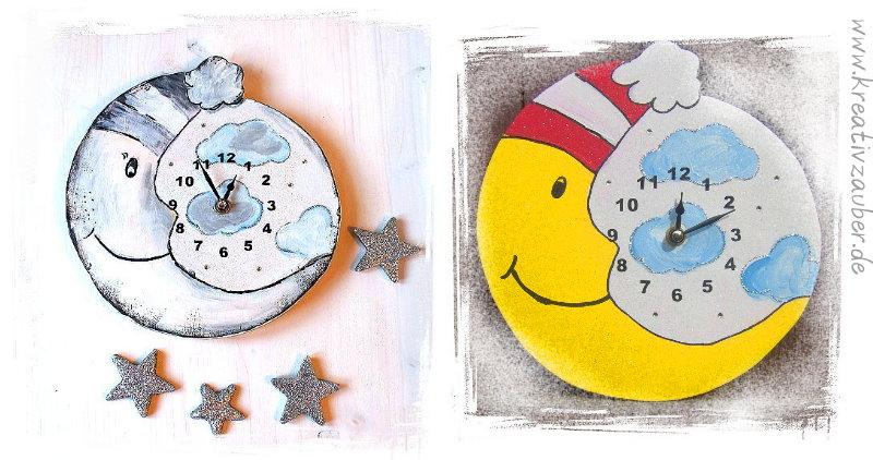 Bastelvorlage Basteln Kinderzimmer Uhr