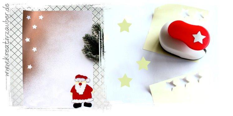 Weihnachtsbriefpapier selber machen