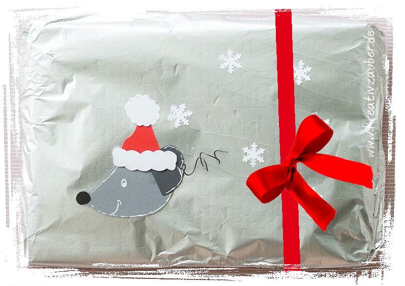 Geschenkverpackung Weihnachtsmaus