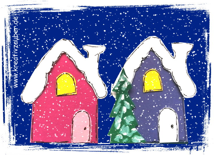 Weihnachtskarten Bastel Vorlagen kostenlos