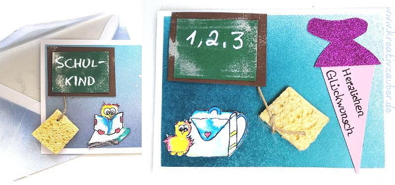 Karten basteln zum ersten Schultag